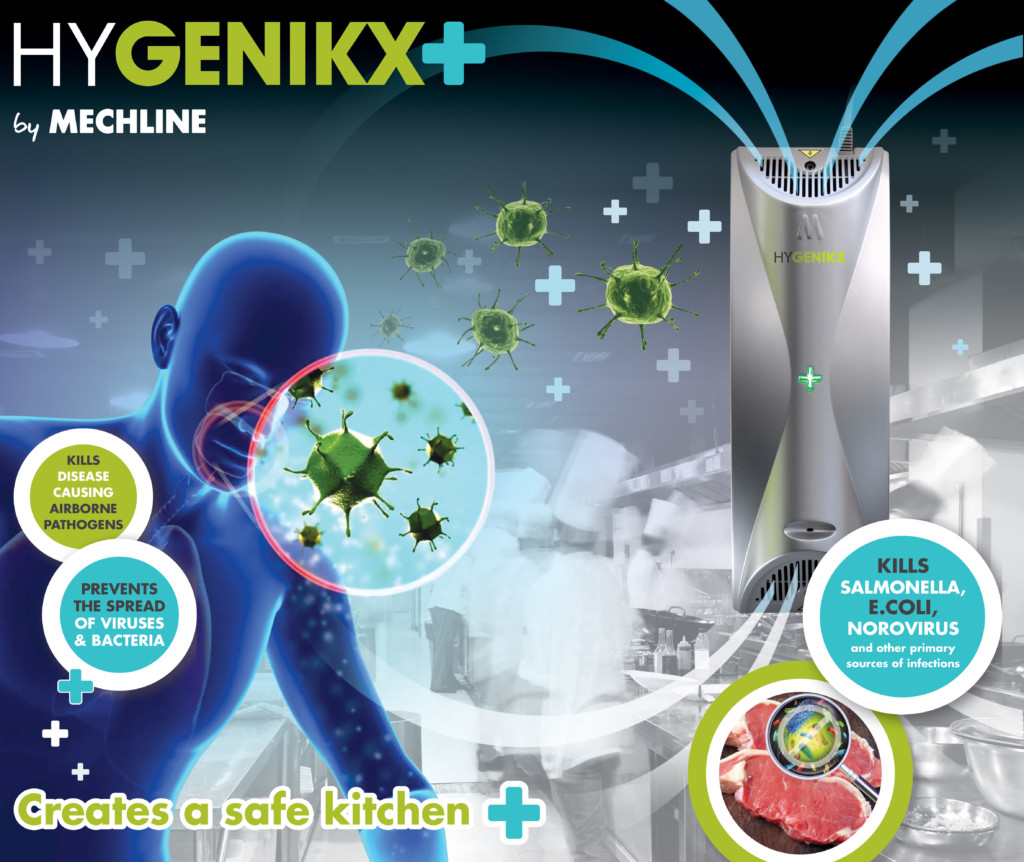 HyGenikx creates a safe kitchen. Prevents the spread of viruses and bacteria