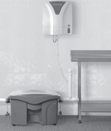 A drain management system designed to address drainage issues within kitchen.