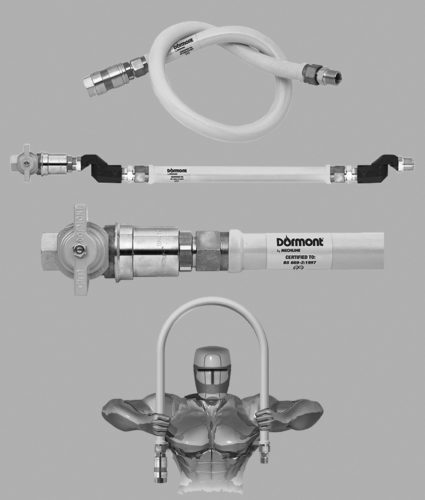 A range of gas products including gas connectors, safety devices and gas accessories.